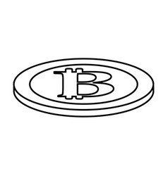 line digital bitcoin currency and electronic vector image vector image