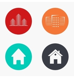 modern real estate colorful icons set vector image
