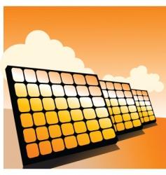 solar panels2 vector image vector image