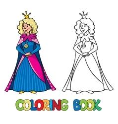 Beauty fairy queen or princess Coloring book vector image