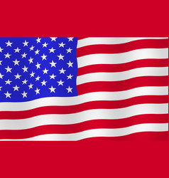 bright usa flag background vector image