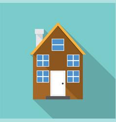 european home style flat design vector image