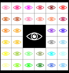 eye sign felt-pen 33 vector image vector image