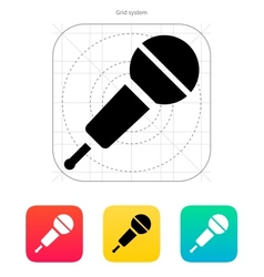 Wireless microphone icon vector image