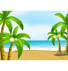 A peaceful beach vector