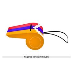 A Whistle of The Nagorno Karabakh Republic vector image