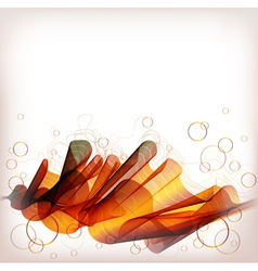 abstract background orange wave vector image