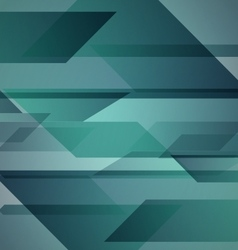 Abstract green background with geometric shapes vector image
