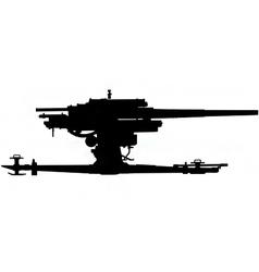 anti aircraft gun silhouette vector image