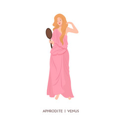 aphrodite or venus - goddess love and beauty vector image