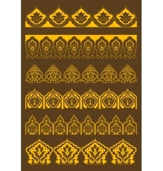 Arabesque borders with persian floral ornaments vector
