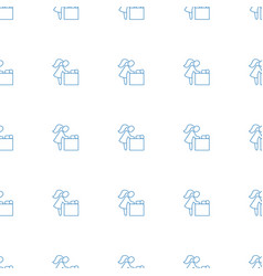 Baby changing room icon pattern seamless white vector
