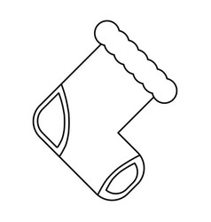 Baby socks cartoon vector