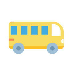 Back to school education transport bus icon vector