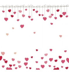 Background with heart vector illustration vector