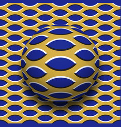 Ball with a pointed ellipses pattern rolling vector