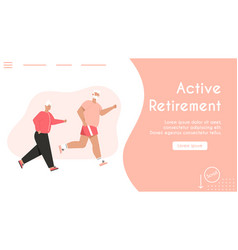 banner active retirement concept vector image