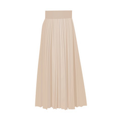 beige pleated skirt vector image