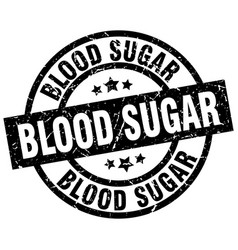 Blood sugar round grunge black stamp vector