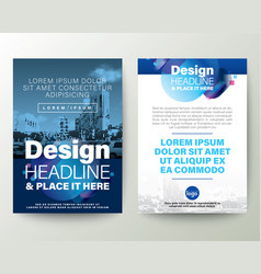 Blue brochure cover flyer poster design layout vector