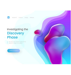 bright landing page template with a modern trendy vector image
