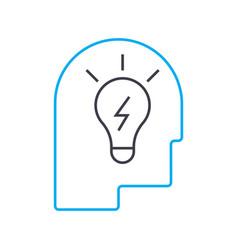 brilliant idea linear icon concept brilliant idea vector image