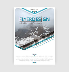 Business flyer template booklet cover brochure or vector