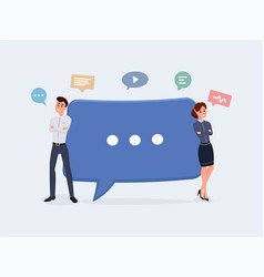business people with speech bubbles vector image