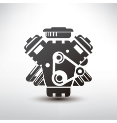Car engine symbol stylized silhouette of vector