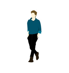 casual man walking people vector image