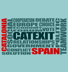 Catalonia exit from spain catexit vector