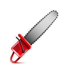 Chainsaw isolated on white vector