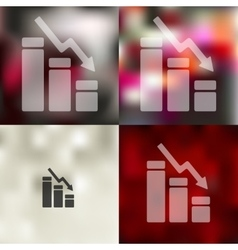 Chart icon on blurred background vector