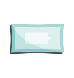 Clean wet wipes in closed package isolated on vector