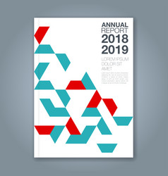 cover annual report 1172 vector image
