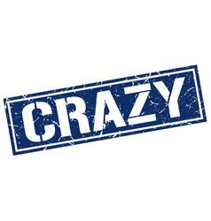 Crazy square grunge stamp vector