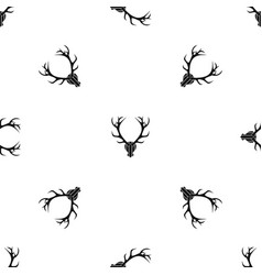 Deer antler pattern seamless black vector