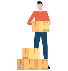 Delivery service international business parcels vector