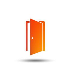 Door sign icon enter or exit symbol vector