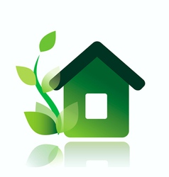 eco home icon isolated vector image