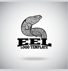Eel logo concept for sport teams business vector image