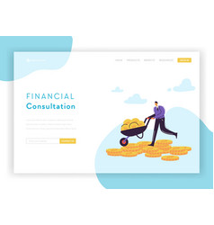 financial consultation strategy landing page vector image