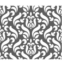 floral damask pattern seamless vector image