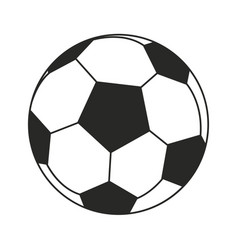 Football ball sport play thin line vector