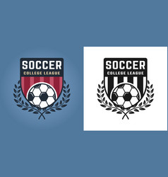 football or soccer two styles emblems or logos vector image