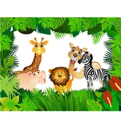 funny animal collection vector image