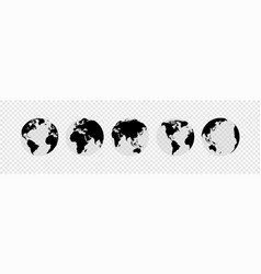 globes set collection on white background vector image