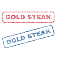 Gold steak textile stamps vector