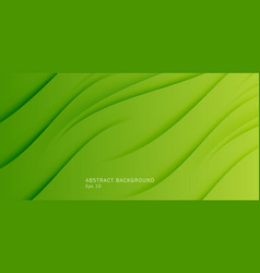 Green waves on green backdrop abstract fresh vector