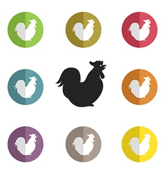 group of cock vector image